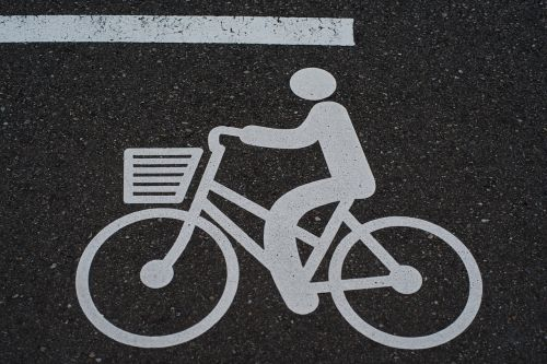 bike pictogram road signs