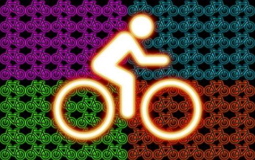 bike neon colors graphic