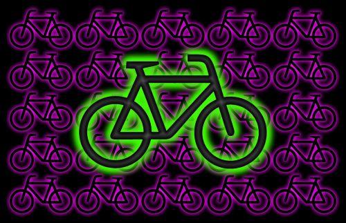 bike graphic neon colors