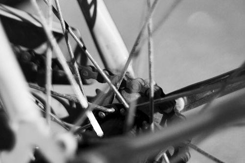 bike black and white bicycle