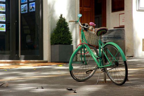 bike turned off wheel