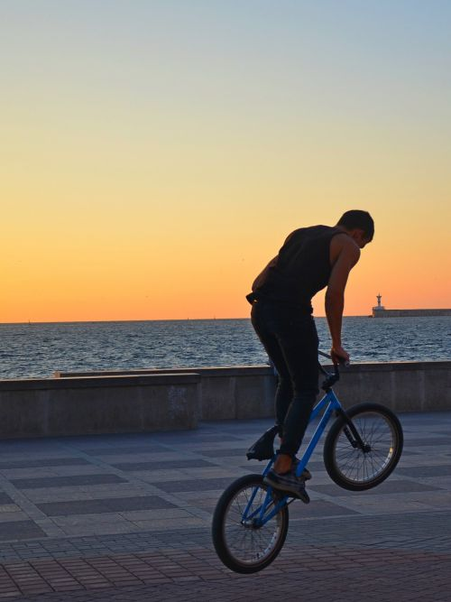 bike sunset guy
