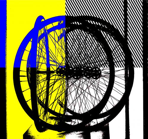 bike art a la lichtenstein