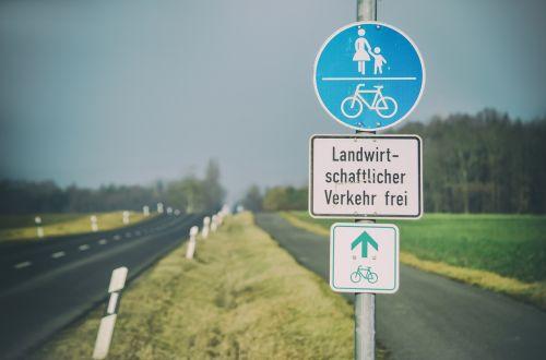 bike bicycle path away
