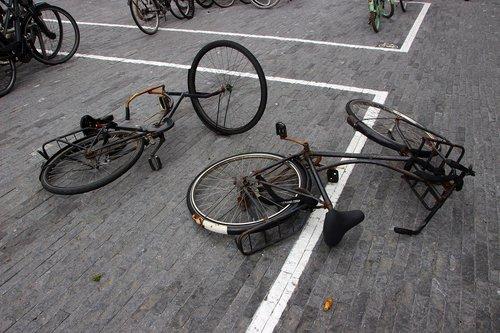 bike  wheel  broken