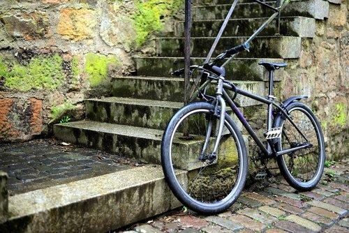 bike  turned off  stairs