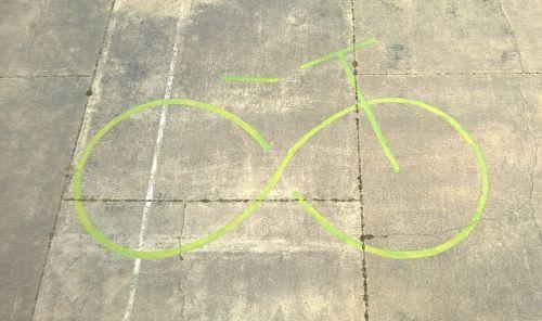 bike symbol airfield