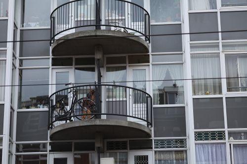 dviratis, tikrai, balkonas, Amsterdamas, neįprastas