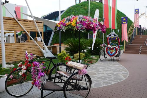 bike flowers artfully