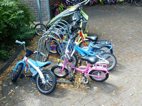 bike bicycles a motorcycle
