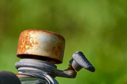 bike bell  bell  rusty