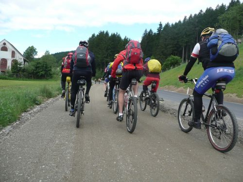 transalp bike ride group