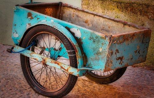 bike trailer  trailers  antique