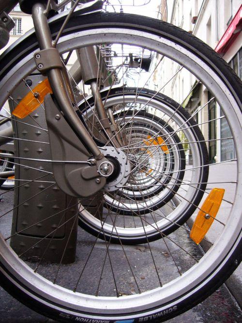 Bike Wheels Abstract