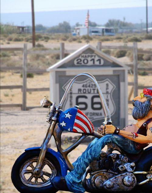 biker route 66 freedom
