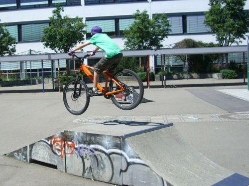 biker ramp jump
