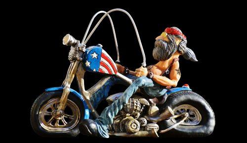 biker bike tattooed