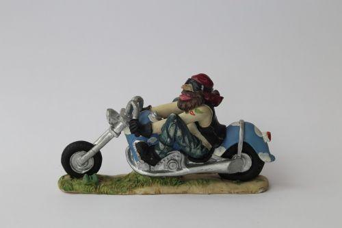 biker figure motorcycle