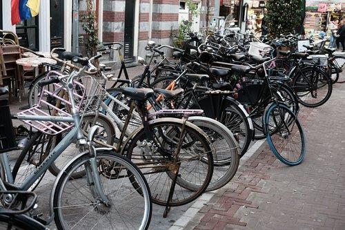 bikes  amsterdam  parking