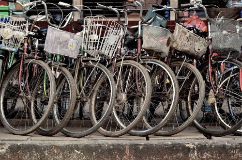 bikes bicycles baskets