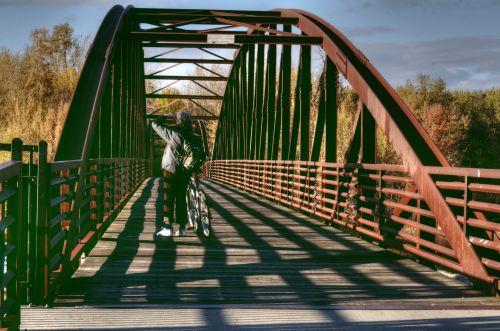 Biking On The Bridge