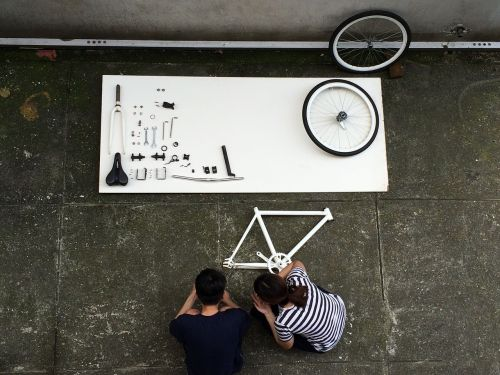 assembling a bicycle component bike
