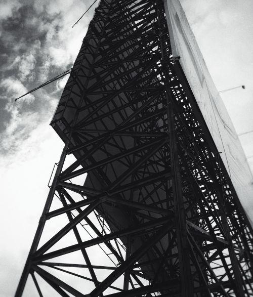 billboard black and white steel