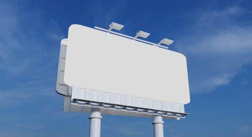 billboard blank sky