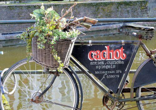 billboard old bicycle the hague