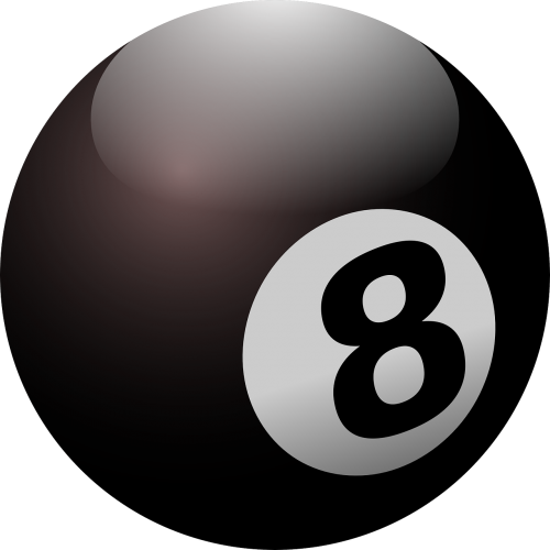 billiard ball black ball