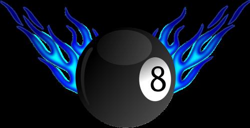 billiard flame ball