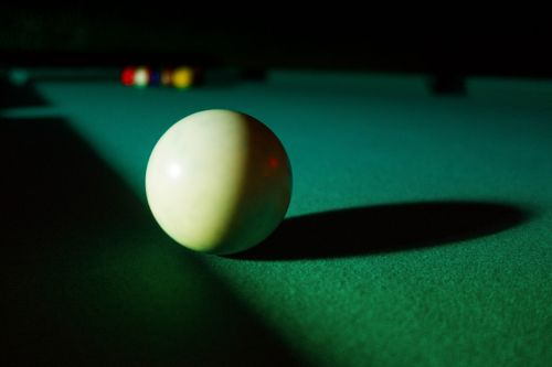 billiard pool cue ball