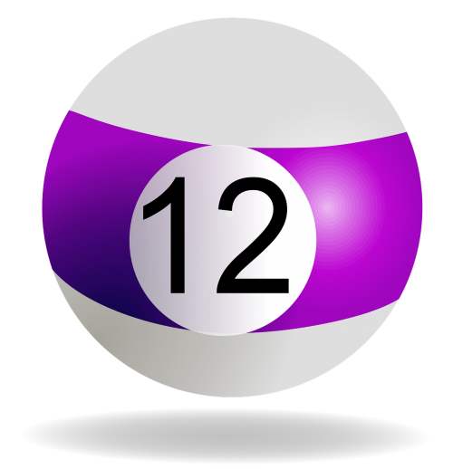 billiard ball purple 12