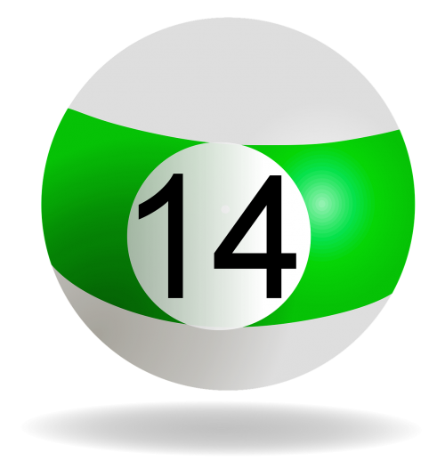 billiard ball green 14
