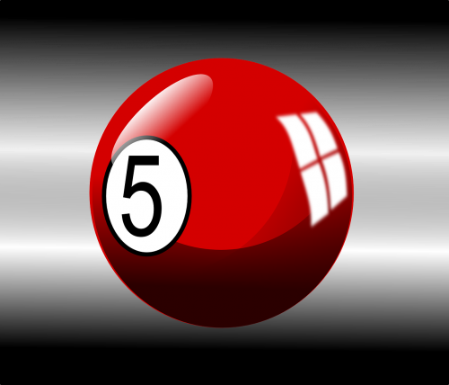 billiard ball red 5
