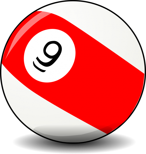 billiard ball pool ball red