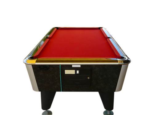 billiards pool table red