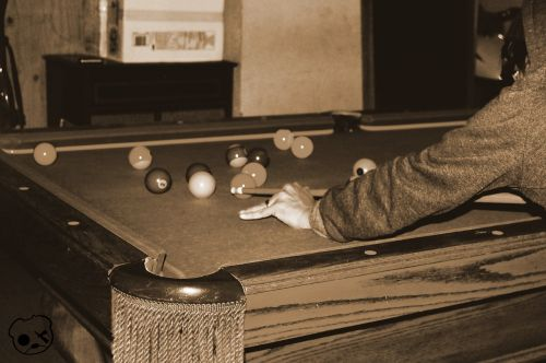 billiards pool playing