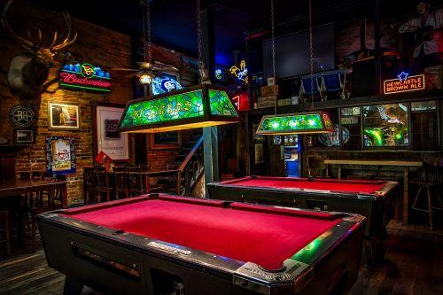billiards pool tables bar