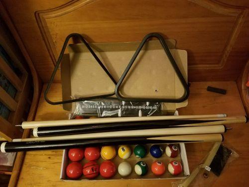 billiards pool table cue