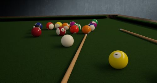billiards balls table