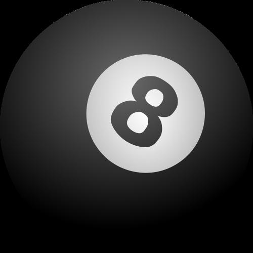 biliardas,biliardo kamuolys,rutulys,aštuoni,juoda,nemokama vektorinė grafika