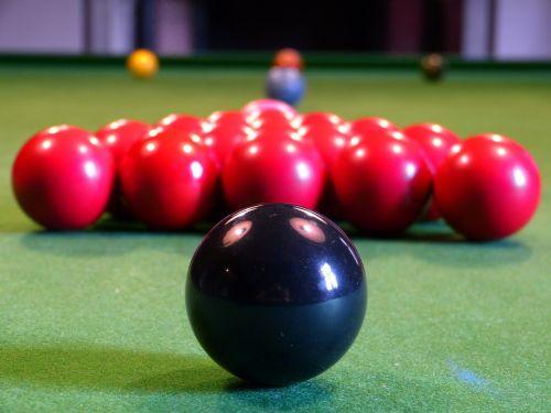 billiards balls black
