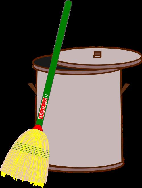 bin broom clean