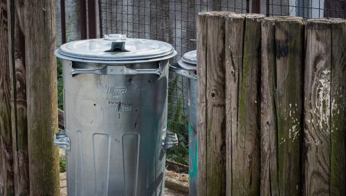 bin wooden fence waste