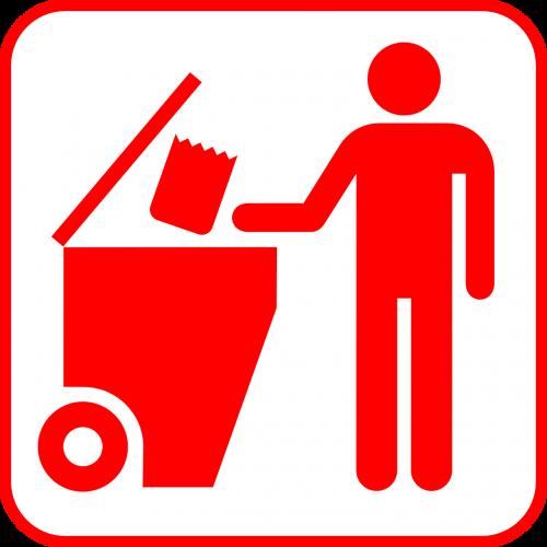 bin trashcan recycling