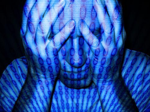binary man face