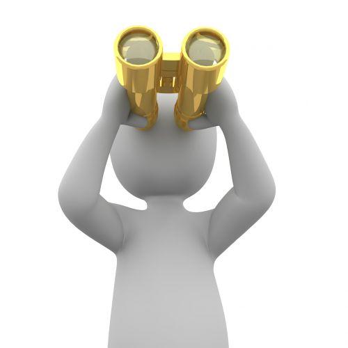 binoculars search see