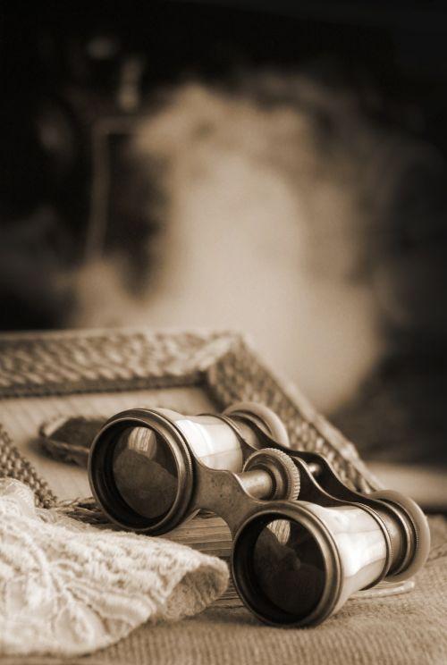 binoculars spyglass antique