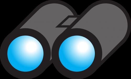 binoculars look lenses